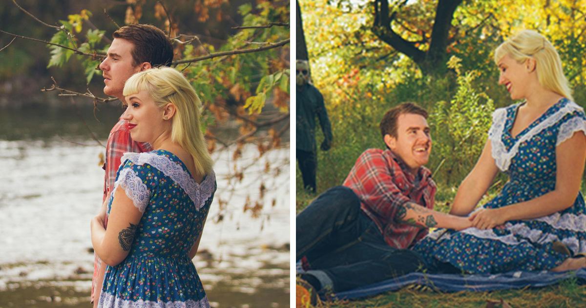 Ce couple a participé à la séance photo de fiançailles la plus effrayante (21 images)