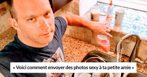 Ce gars a posé pour des photos «sexy» hilarantes pour sa petite amie et elles sont devenues virales