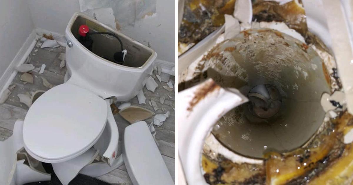 Les toilettes d'une femme ont explosé quand ses pets ont été enflammés par la foudre
