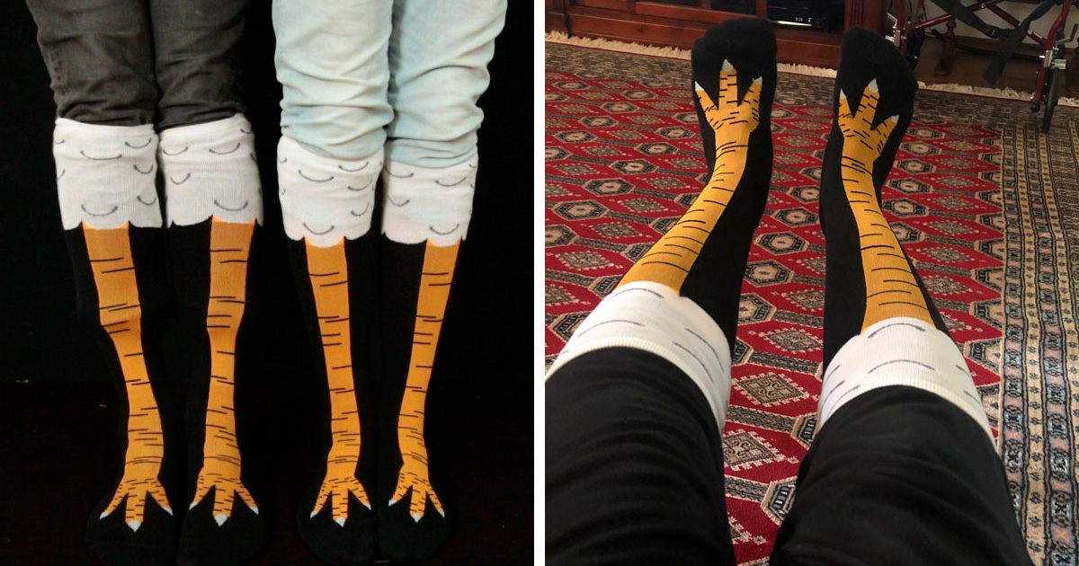 Les chaussettes pattes de poulet existent et elles sont vraiment drôles (19 images)