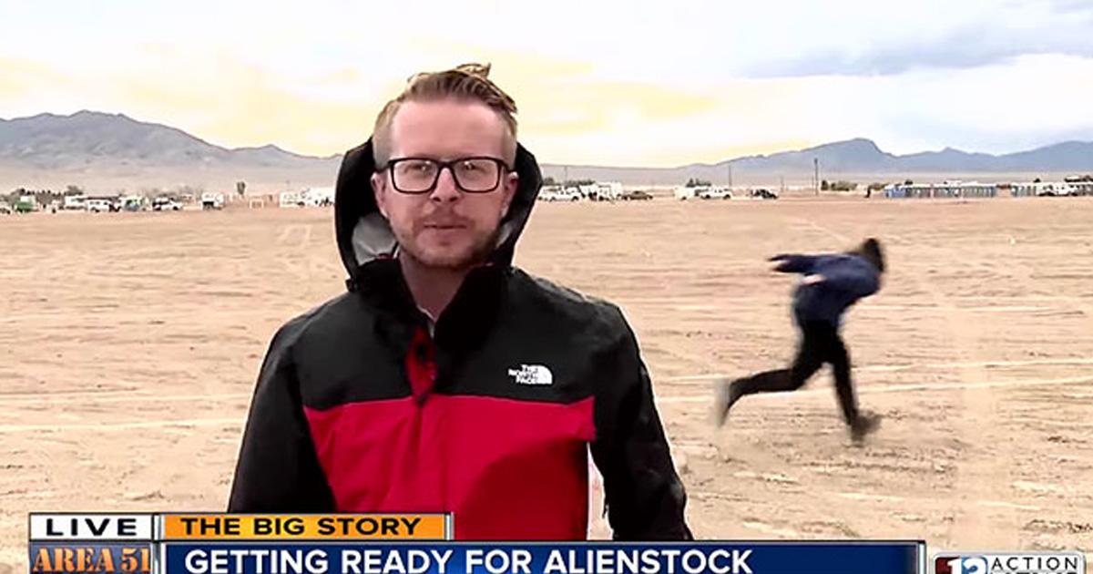 Un coureur Naruto a été aperçu près de la zone 51 pendant la couverture en direct de l'événement