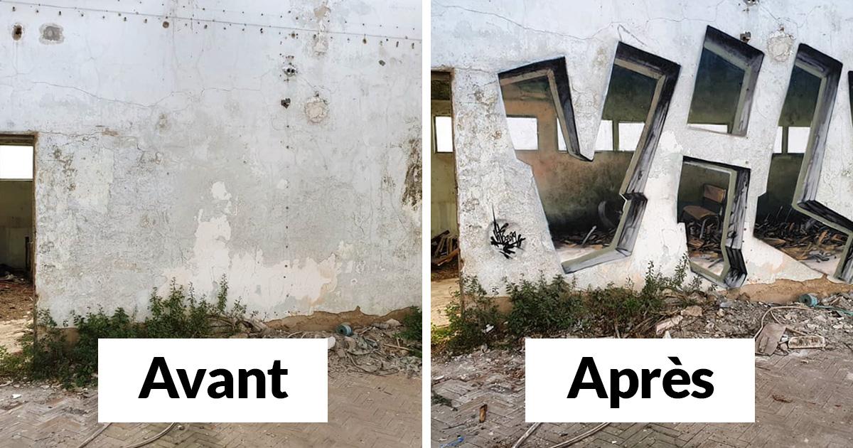 Ce graffeur rend les murs «transparents» en utilisant uniquement de la peinture en aérosol (22 images)