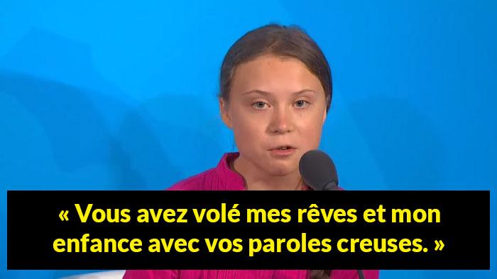 Le discours de Greta Thunberg au Sommet Action Climat de l'ONU est devenu viral avec son regard de la mort dirigé vers Trump
