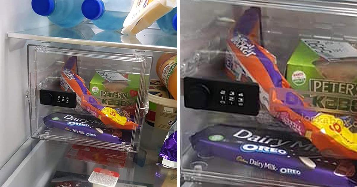 Cet homme a installé un coffre-fort pour le chocolat dans le frigo pour empêcher sa fiancée et ses enfants de voler de la nourriture