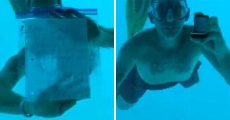 Cet homme s'est noyé en demandant sa petite amie en mariage sous l'eau