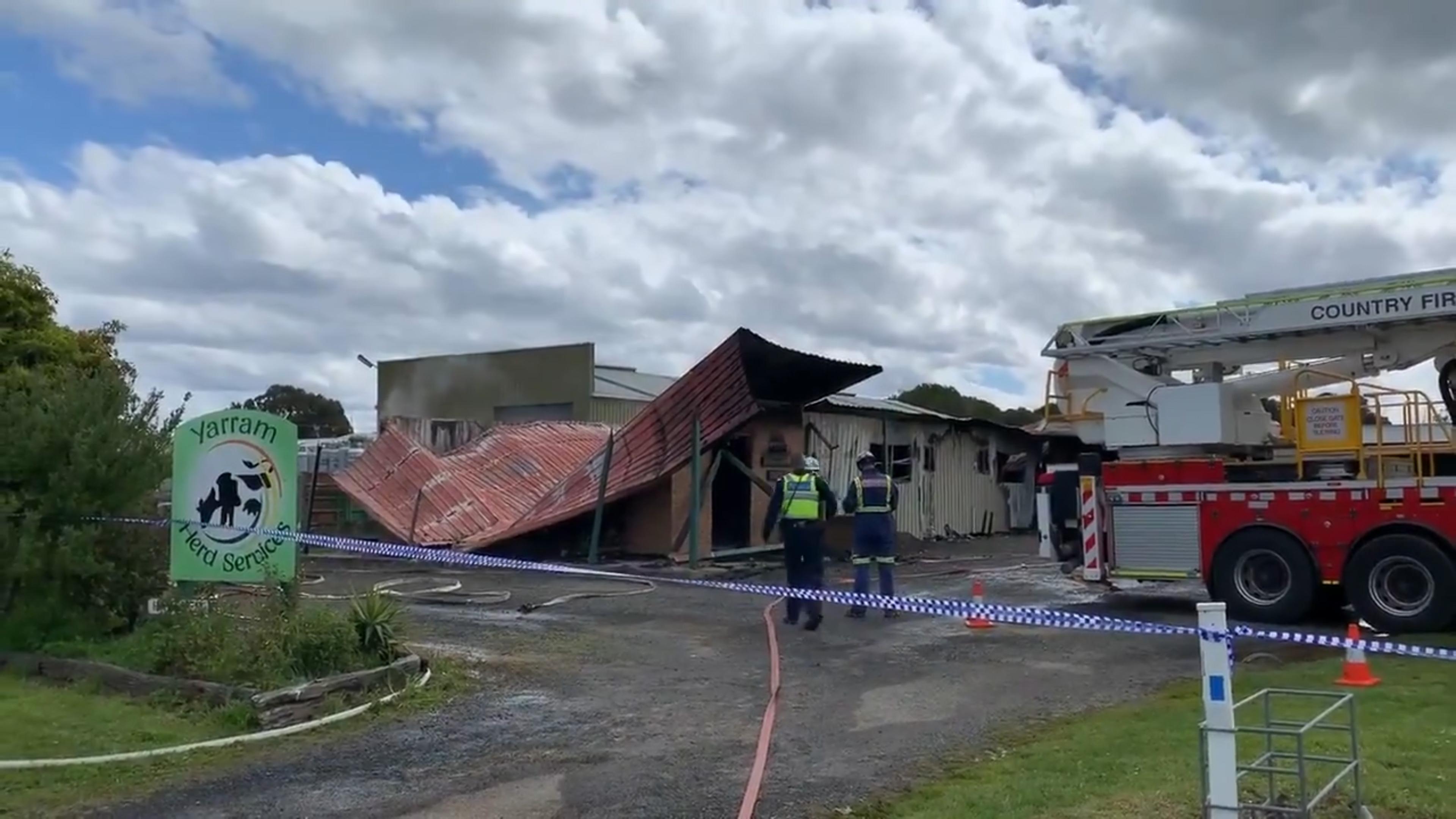 Une explosion massive de sperme a détruit un centre d'insémination artificielle à la suite d'un incendie