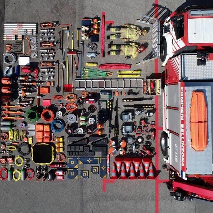 Voici à quoi ressemble l'inventaire de divers services d'urgence dans le monde (22 images)