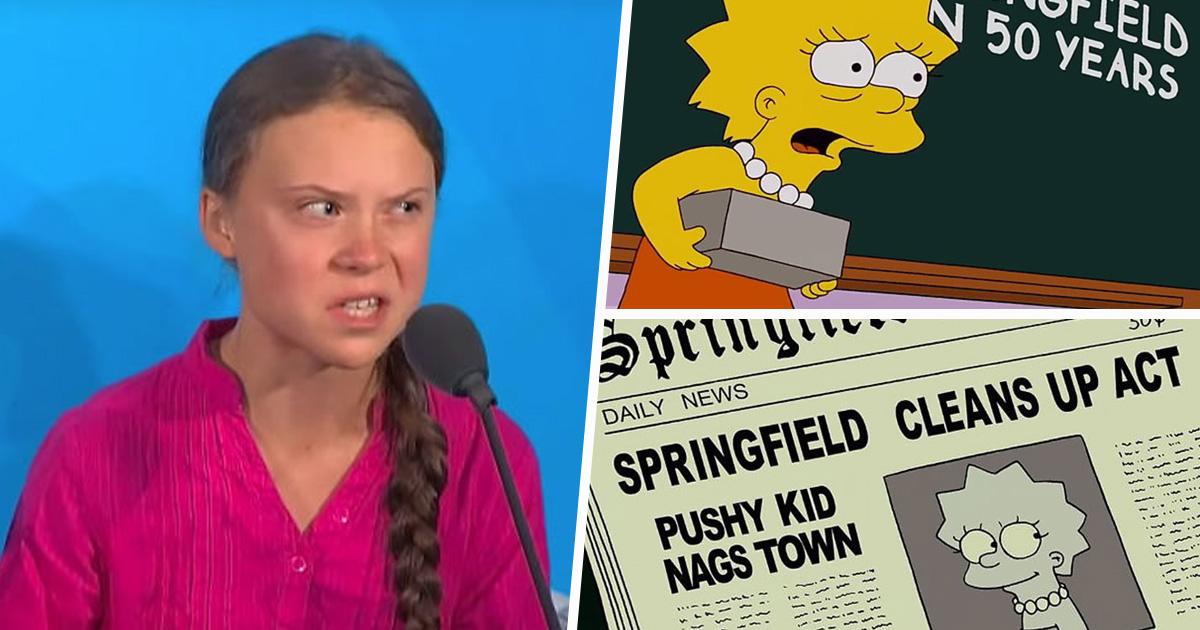 Les Simpson l'ont fait en premier: des gens pensent que l'émission emblématique a prédit Greta Thunberg