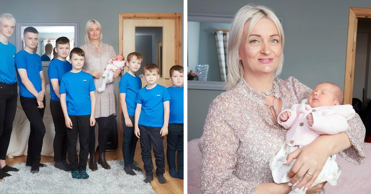 Cette mère a enfin donné naissance à une fille après avoir eu 10 garçons d'affilée