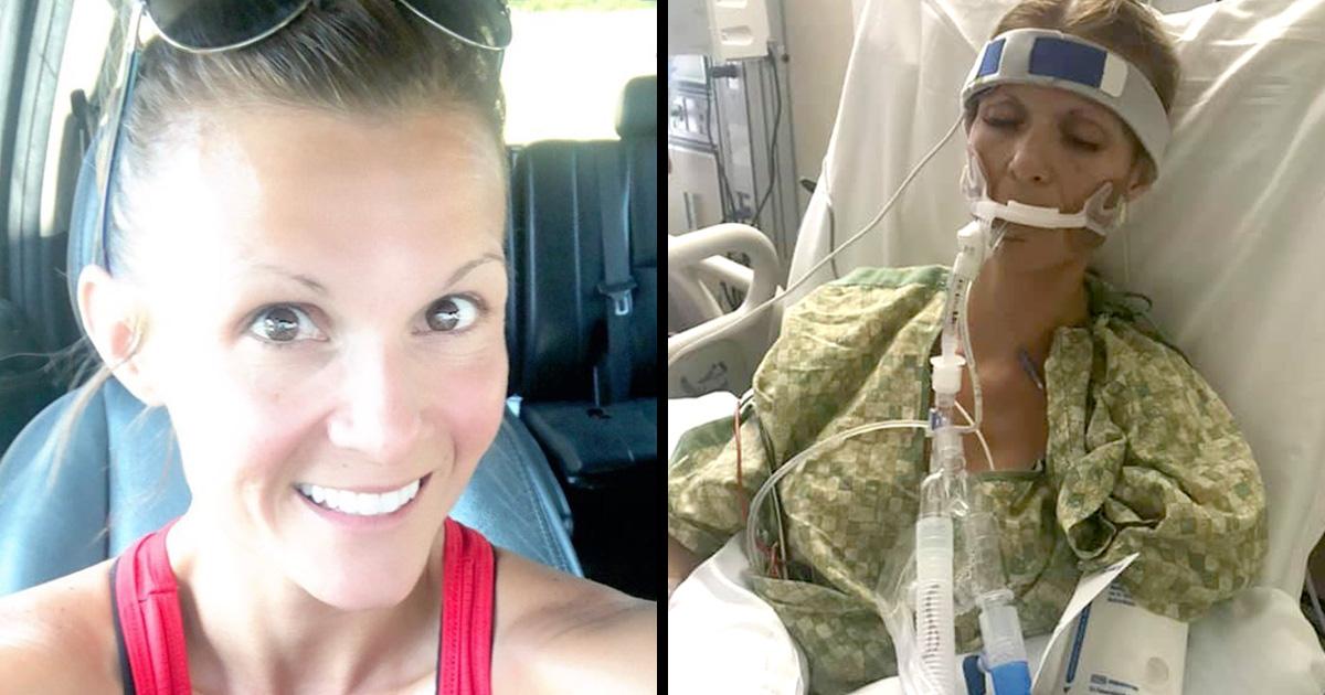 Cette mère de trois enfants a été plongée dans un coma artificiel après avoir contracté une maladie pulmonaire liée au vapotage