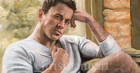 Une peinture à l'huile originale des couilles de Channing Tatum est à vendre pour 2089$