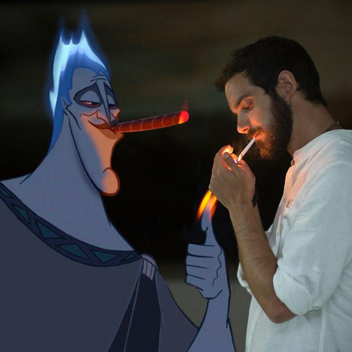 Ce mec se fond dans des scènes amusantes avec des personnages de Disney et le résultat est vraiment drôle (30 images)