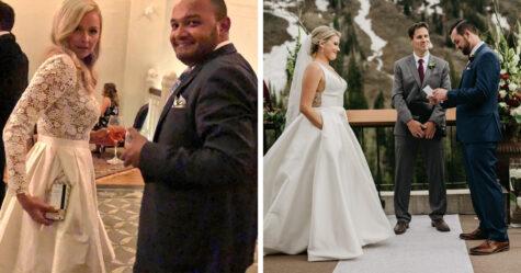 14 fois où des mariées n'ont pas pu retenir leur bonheur parce qu'elles portaient des robes avec des poches