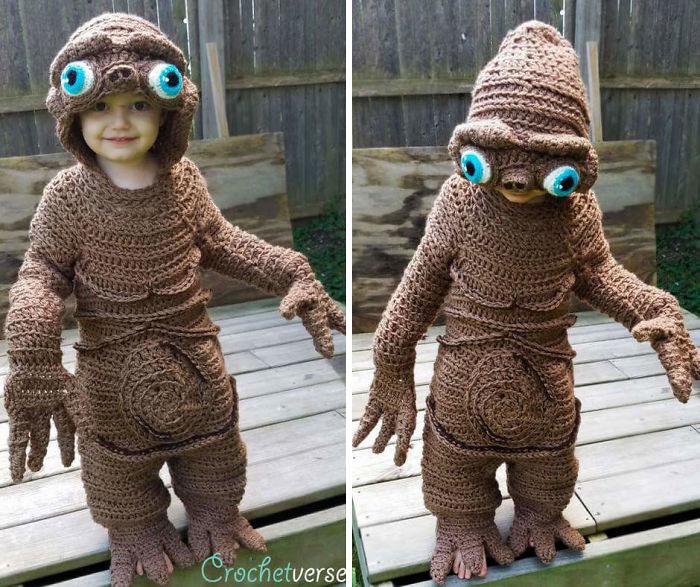 Cette maman crochète des costumes d'Halloween complets pour ses enfants (11 images)