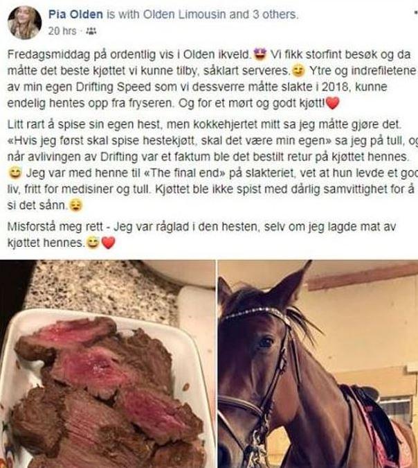Cette adolescente a reçu des menaces de mort après avoir cuisiné et mangé son cheval mort