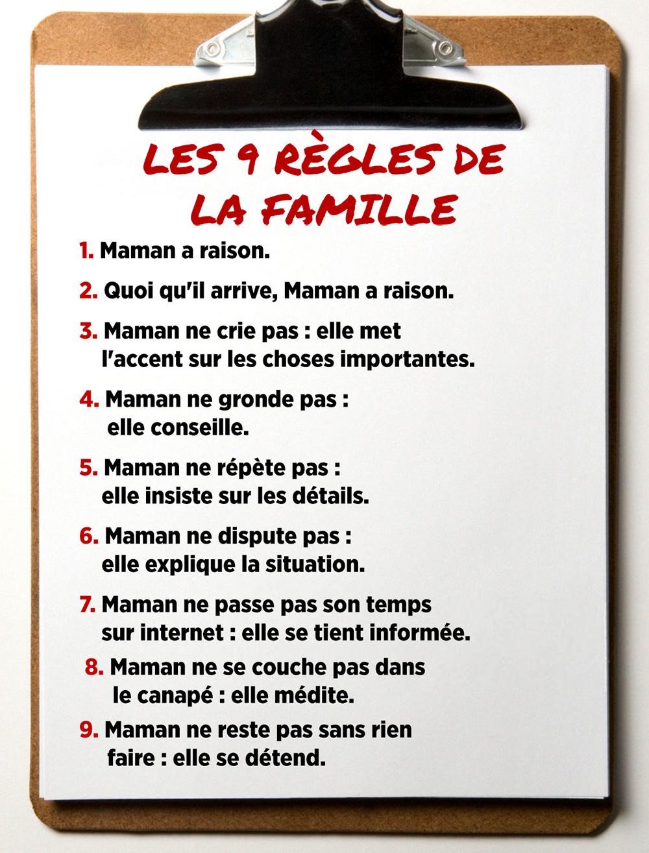 Les 9 règles de la famille