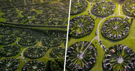 Cette communauté au Danemark vit dans des jardins circulaires surréalistes