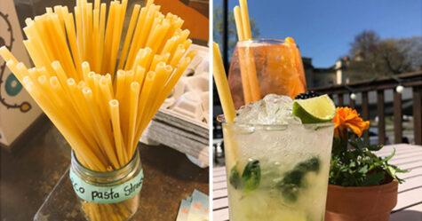 Les bars en Italie commencent à utiliser des pailles en pâtes pour réduire les déchets plastiques