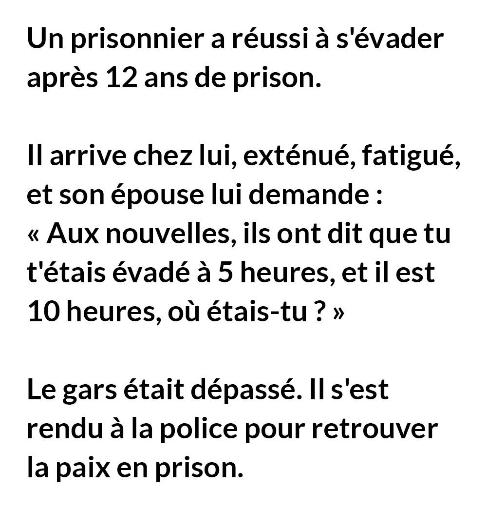 Un prisonnier a réussi à s'évader après 12 ans de prison