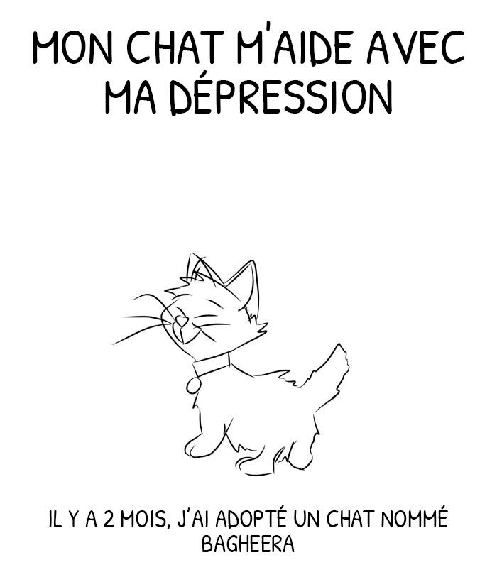 Un gars déprimé a adopté un chat et a illustré les façons dont il l'a aidé au cours des 2 derniers mois