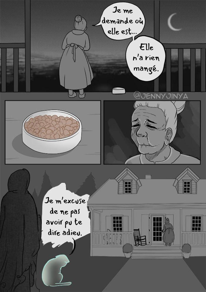 La même artiste qui a fait pleurer les gens avec sa bande dessinée «Bon garçon» vient d'en partager une nouvelle avec un chat noir