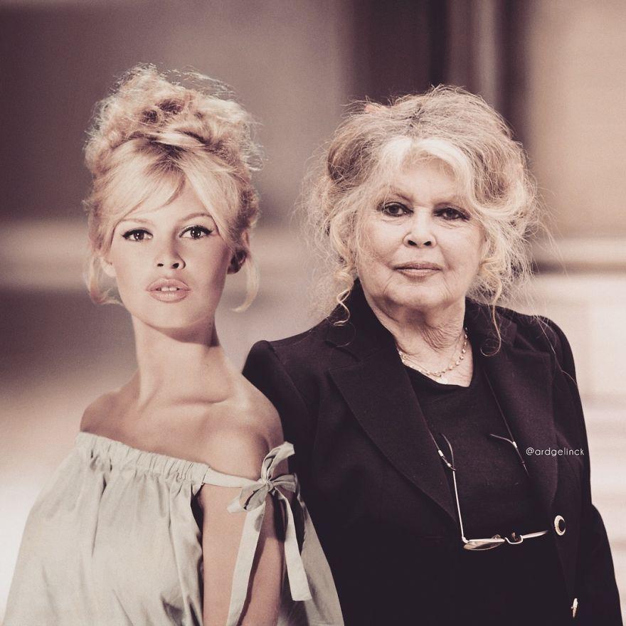 30 célébrités avec leur moi plus jeune qui prouvent que le vieillissement change même les vedettes (nouvelles images)