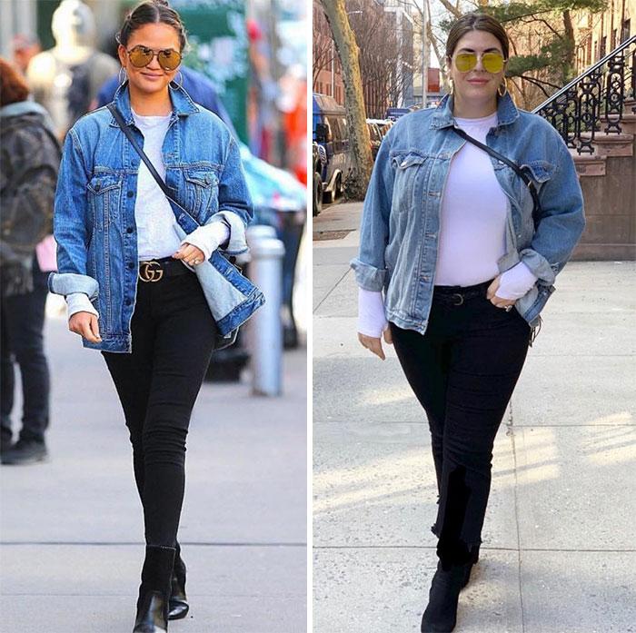 Cette femme s'habille comme des célébrités pour montrer qu'il n'est pas nécessaire d'être maigre pour bien paraître (30 images)
