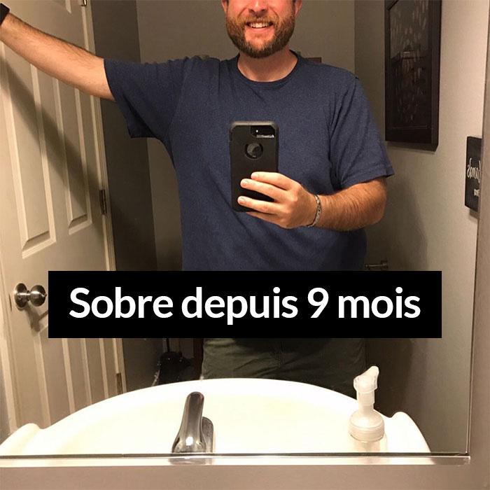 Ce gars a arrêté de boire de l'alcool et a montré à quel point la sobriété l'a changé en 3 ans