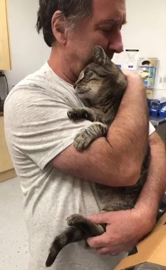 Cet homme a retrouvé son chat de 19 ans 7 ans après sa disparition
