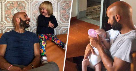 Ce père célibataire a adopté une petite fille trisomique rejetée par 20 familles