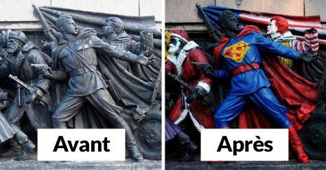 Des gens n'arrêtent pas de vandaliser ce monument et certaines de ses transformations sont vraiment drôles