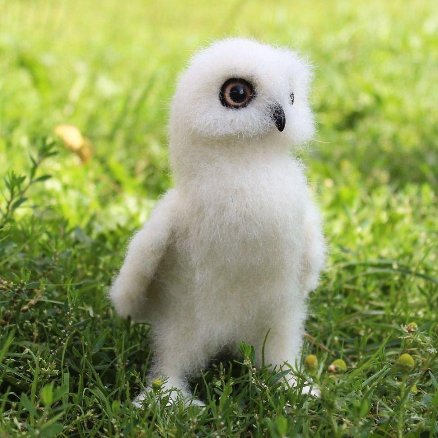 Les animaux en laine feutrée de cette artiste sont si mignons qu'ils vont te faire dire «Onnn!» (30 images)