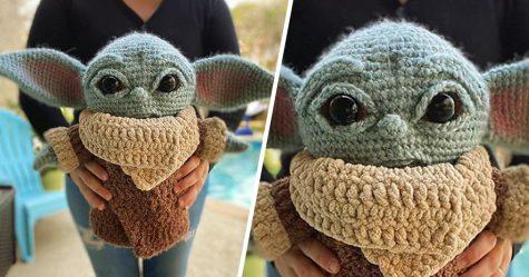Voici un bébé Yoda crocheté que tu peux faire toi-même