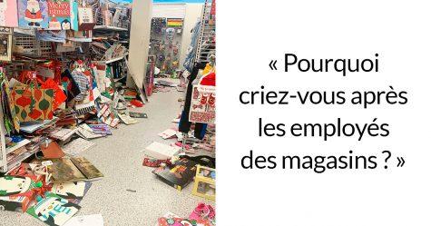 Cette femme montre ce que c'est que de travailler dans les magasins pendant les Fêtes et demande aux gens d'être plus gentils avec les employés