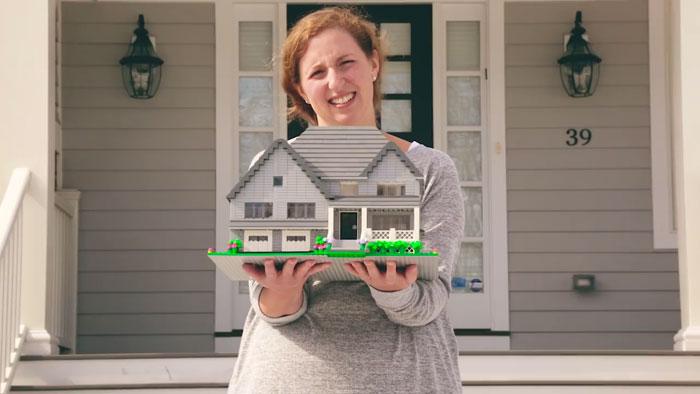 Tu peux obtenir une réplique de ta maison construite en LEGO