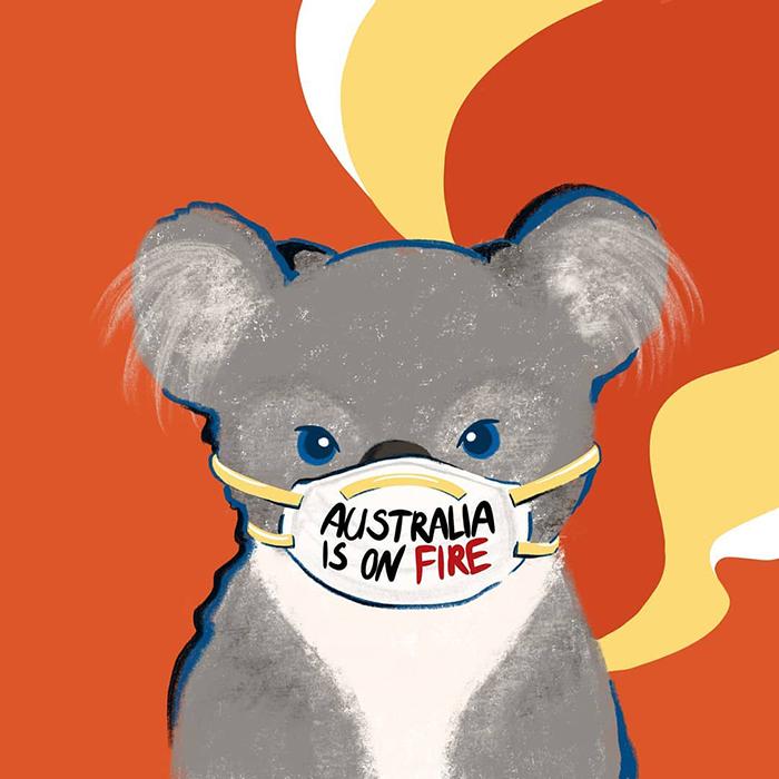 30 artistes du monde entier qui ont rendu hommage à l'Australie par des oeuvres d'art percutantes