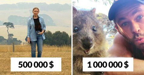 15 célébrités qui ont fait un don pour aider les pompiers australiens