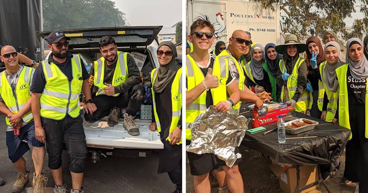 Cette communauté musulmane a apporté 5 camions de provisions et a préparé des repas pour les pompiers épuisés en Australie