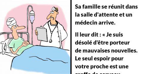 Un patient atteint d'une terrible maladie est à l'hôpital