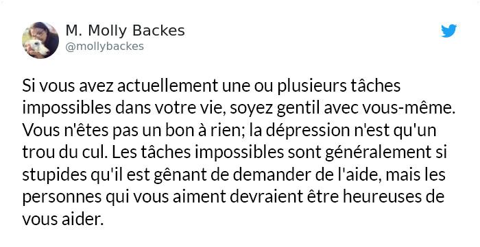 Cette femme a expliqué un symptôme moins connu de la dépression et les gens la remercient