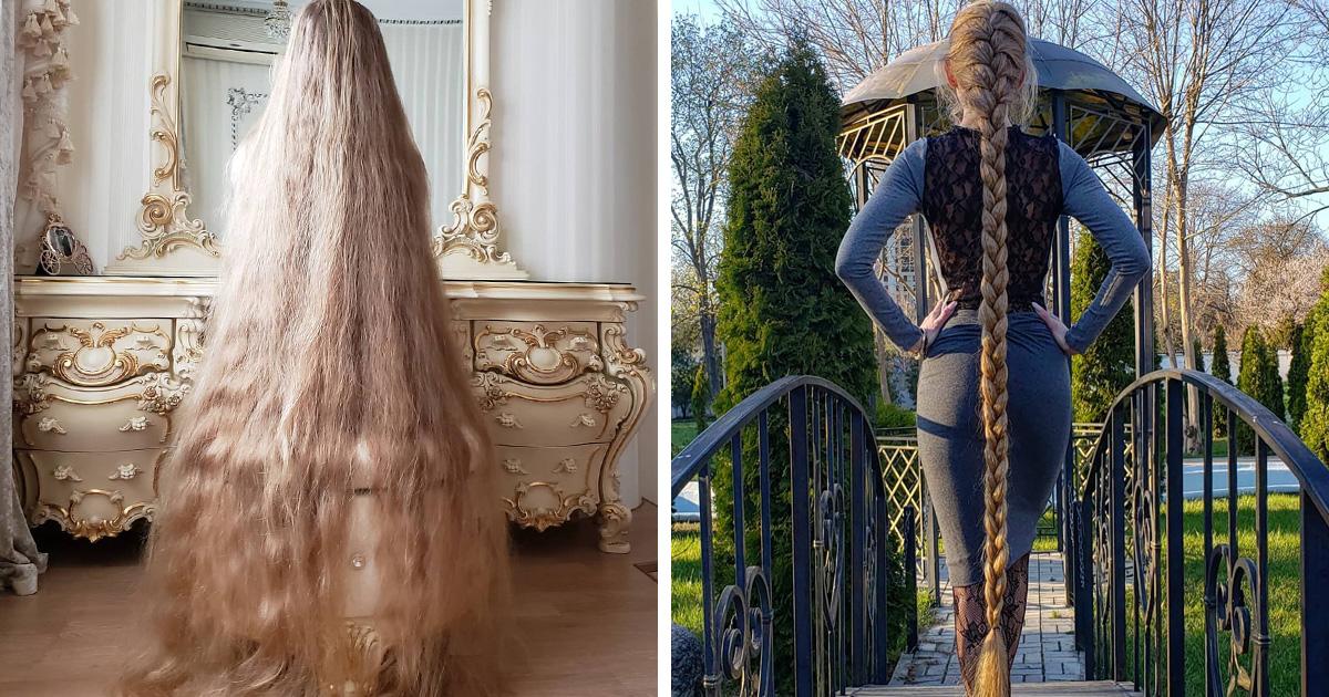 Cette femme qui refuse de se couper les cheveux depuis l'âge de 5 ans a maintenant 34 ans et ressemble à Raiponce dans la vraie vie