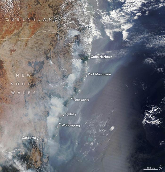 Des images satellites percutantes révèlent la véritable ampleur des feux de forêt en Australie