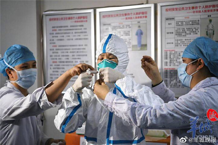 30 images qui montrent les réalités du personnel médical travaillant à Wuhan