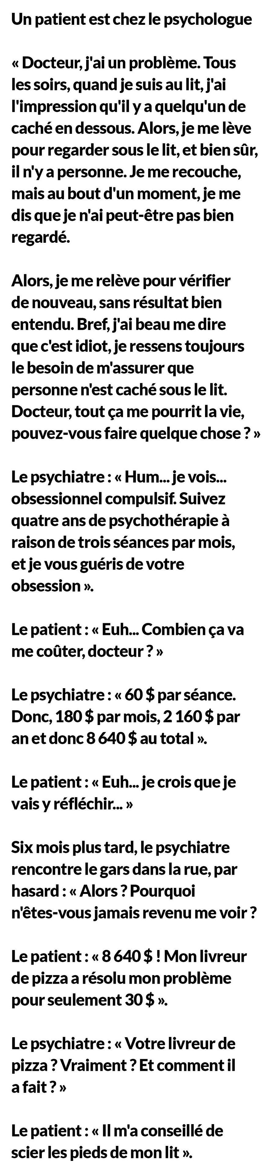 Un patient est chez le psychologue