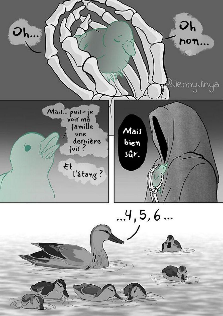 La même artiste qui a fait pleurer les gens avec sa bande dessinée «Chat noir» et «Bon garçon» vient d'en publier une nouvelle avec un canard