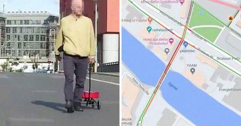 Cet homme a créé des «embouteillages» sur Google Maps en traînant 99 smartphones dans un chariot