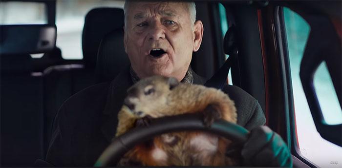 Bill Murray apprend enfin à aimer le jour de la marmotte dans cette pub hilarante du Super Bowl