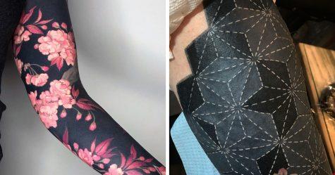 Cette artiste a propulsé les tatouages noirs au niveau supérieur en tatouant des fleurs inspirées de la Renaissance sur les membres des gens (25 images)