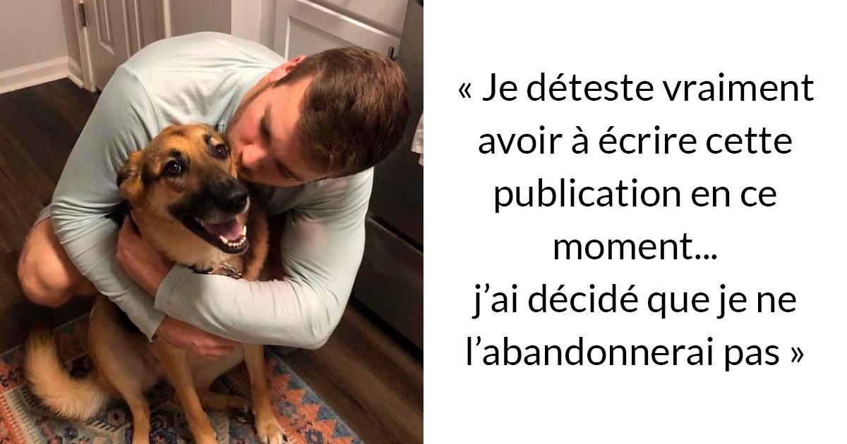 Avant d'obtenir un chien, assurez-vous de lire le message honnête de cet homme sur les difficultés d'en avoir un