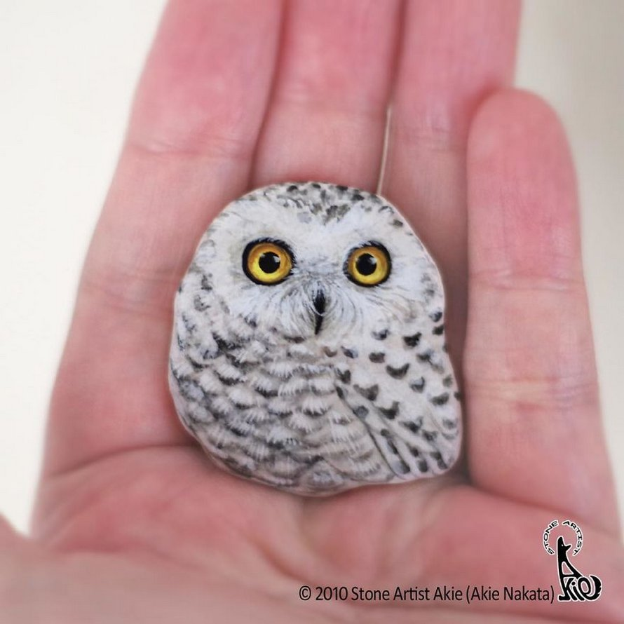 Une artiste japonaise donne vie aux pierres en les transformant en animaux qui tiennent dans la paume de votre main